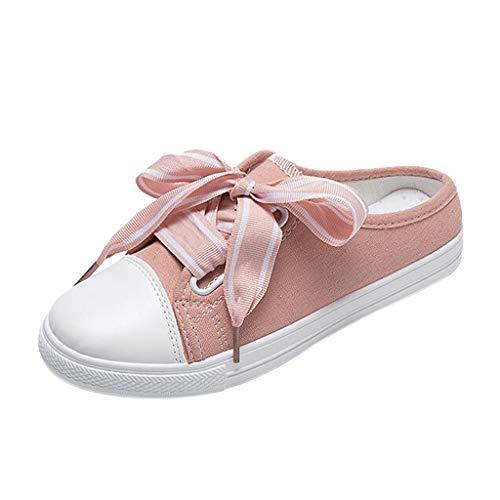 AIni Damen Schuhe Sommer Beiläufiges 2019 Neuer Heißer Sport Frühlings Beiläufige Flache Segeltuch Schuhe Strand Partyschuhe Freizeitschuhe(38,Rosa) - Jean Leder-jacke Arizona
