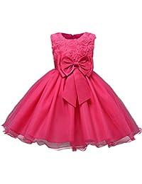 2e86745c0 FEOYA Vestido de Bautizo Recién Nacido Bebés sin Mangas Verano Transpirable  Traje de Ceremonia Boda para Niñas Vestido de Princesa…