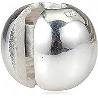 Argento 925 sfera rotonda clip della serratura