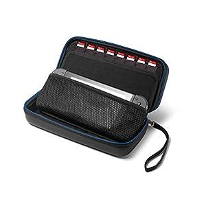 Supremery Nintendo Switch Tasche Case Hülle mit Netztasche, Reißverschluss und Handschlaufe – Wasserabweisend in Blau/Schwarz