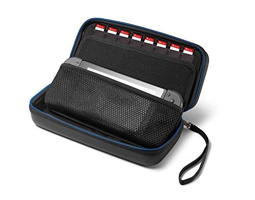 Odyssey Docking-station (Supremery Nintendo Switch Case Tasche Hülle mit herausnehmbaren Teil , Reißverschluss und Handschlaufe - Wasserabweisend in Blau/Schwarz (Neue Version))