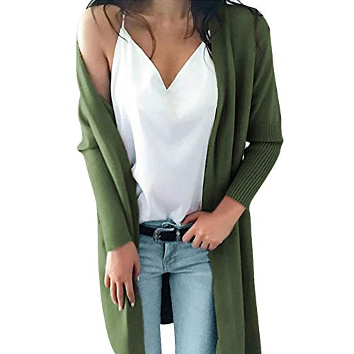 JURTEE Clearance Sale Fashion Womens Winter Long Sleeve Solid Pockets Knitted Long Sweater Coat Tops Blouse