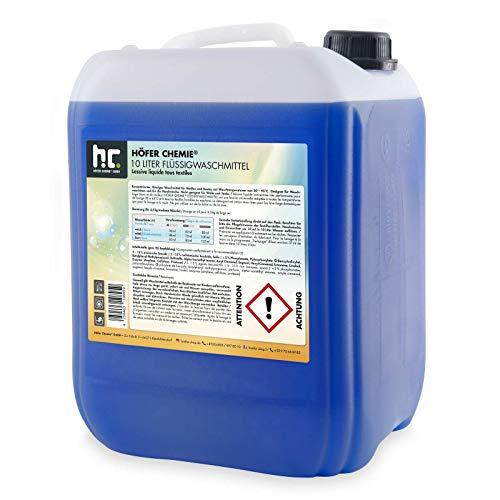 Höfer Chemie 1 x 10 L Waschmittel flüssig - im 10 L Vorratskanister - VERSANKOSTENFREI