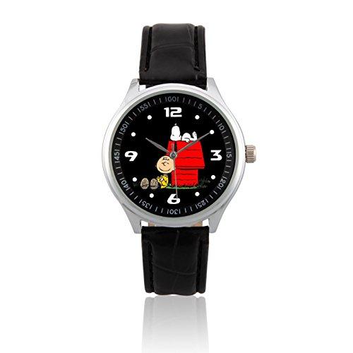 zoomeverydayr-peanuts-snoopy-leather-strap-wrist-watch-l502-