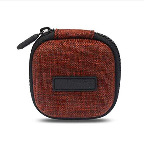 Mini-Reisetasche für Kopfhörer, tragbar, Hartschale, stoßfest, für USB-Kabel, Organizer, Tasche, Organizer, Elektronik-Zubehör Orange (Kleine Video Game Organizer)
