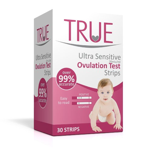 True Ultra Sensitive Ovulation Test Strips (30 pack) Wide Width (3mm). Fertility Test Kit for Home Use, CE Approved
