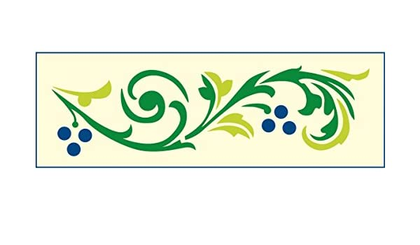 mako Creative Line Motiv-Schablone; Wein; ca. 12 cm x 36 cm: Amazon ...