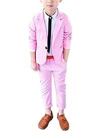 Zhuhaitf Mode 2 Piece Kids Children School Suit for Boys Boys Formal Wedding Blazer Suit Boys Suit Party Tuxedos 4121