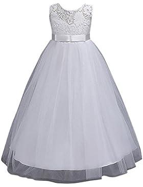 Vestido de Princesa de Niñas Vestidos Sin Mangas Vestidos Elegante de Coctel Fiesta Largos de Noche Bodas y Ceremonia...