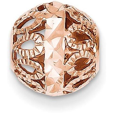 Icecarats 14K Designer Di Gioielli In Oro Rosa Con Diamanti Taglio Sfera In Filigrana Catena Scorrevole