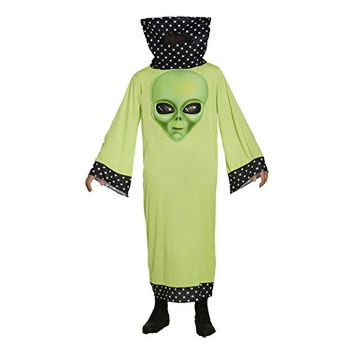 Kostüm für Erwachsene, Damen und Herren, Halloween, Party, Trick or Treat Gr. Einheitsgröße, Ubs-adult-alien-u36656