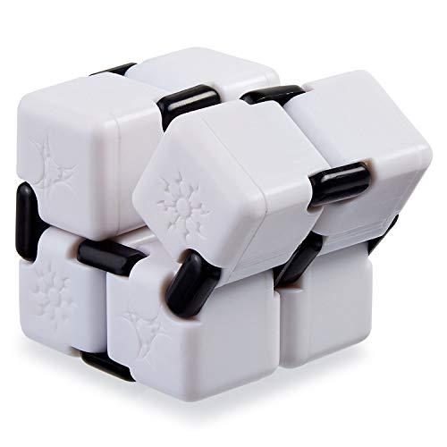 ToysCentral Infinity Cube, Anti-Stress Fidget Toy, White