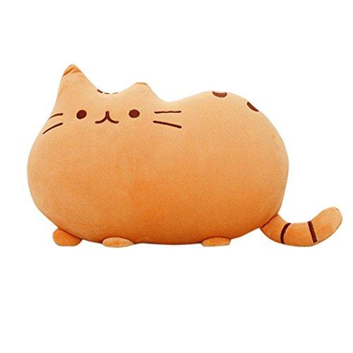 Weichem Plüsch Süße Katze Form Kissen kissenpolster Sofa Spielzeug Wohnkultur 5 Farbe (Gelb) (Wohnkultur)