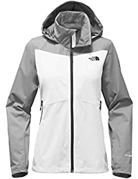 North Face W Resolve Plus JKT Chaqueta, Mujer, TNF White/Mid Grey Dobby