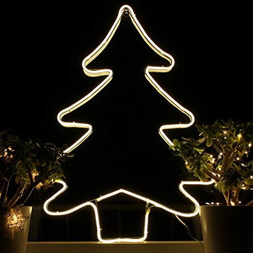 Weihnachtsdeko Fenster LED Tannenbaum Fensterbilder Weihnachten Beleuchtet Fensterdeko Hängend Fensterdekoration mit Licht Fensterbeleuchtung (WW1)