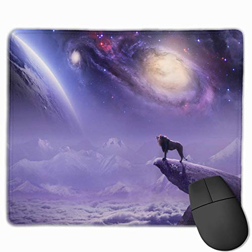 Lion Galaxy Customized Rectangle Non-Slip Rubber Mousepad Gaming Laptop Mouse Pad Mousepad Anti-Slip Mouse Pad Mat Mice Mousepad Desktop Mouse Pad 9.8 Inch X11.8Inch -