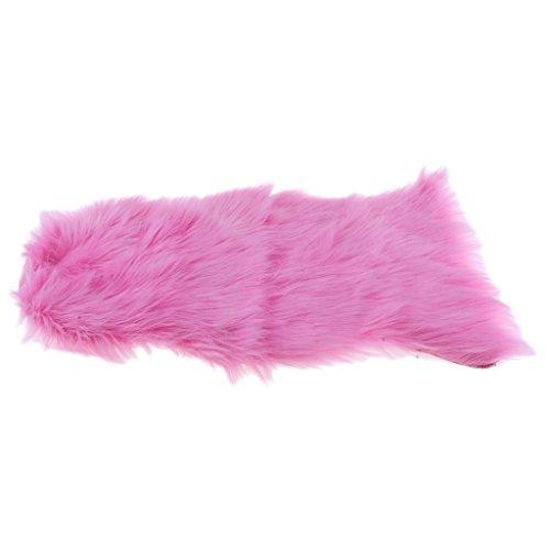 Fenteer Kunstfell Bettvorleger Sitzauflage Teppich Matte für Wohnzimmer Schlafzimmer, 15 Farben - Rosa
