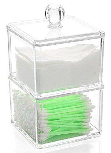 Acrylicase Wattestäbchenspender, Acryl, klar