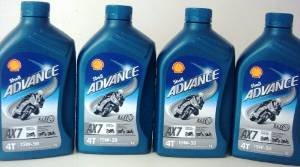 Shell Advance 4T AX7 15W50 Semisinthetic Motorcycle Oil 4x1= 4 Lit