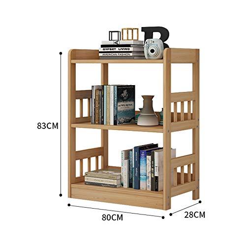 Bücherregal YNN 3-4-5-Etagen Massivholz Regal Mehrschicht Boden Kiefer Lagerregal Kombination Lagerregal Regal (größe : 80 * 28 * 83cm) -