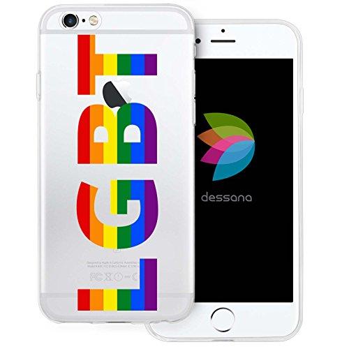 dessana LGBTQ transparente Silikon TPU Schutzhülle 0,7mm dünne Handy Tasche Soft Case für Apple iPhone 6/6S LGBT