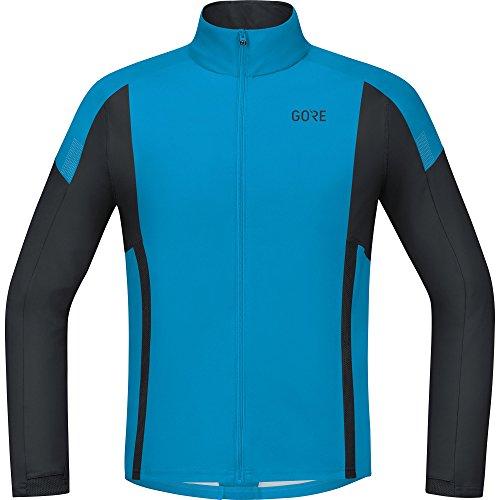 GORE Wear Winddichtes Herren Langarm Laufshirt, GORE R5 GORE WINDSTOPPER Light Long Sleeve Shirt, Größe: XXL, Farbe: Blau/Schwarz, 100003 (Bar Long Sleeve T-shirt)