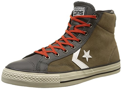 Converse - Star Player Hi Suede/Leather - , homme, brown (fossil/storm wind/burnt pumpki), taille brown (Fossil/Storm Wind/Burnt Pumpki)