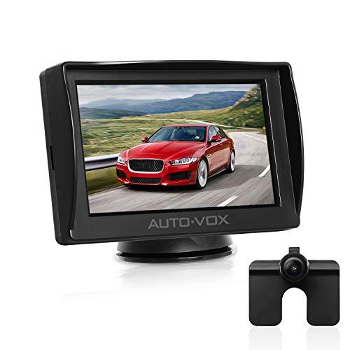 AUTO-VOX M1 Rückfahrkamera mit Monitor, IP68 Wasserdichte AutoKamera für Einparkhilfe Rückfahrhilfe mit Stabiler Signalübertragung, 4.3\'\' TFT LCD Rückansicht Bildschirm