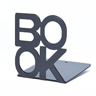 1 Paar Buchstützen BOOK Organizer Buchstütze Bookend Aus Metall CD Ständer Aufbewahrung Buchstützen-Set Dekoration für Hause Büro und Schule
