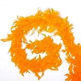 Multi-Color Fluffy Handcraft Ostrich Feather Plume Boas Sciarpa Vestiti per la Decorazione di Nozze Forniture per Danza Performance P20, Arancione