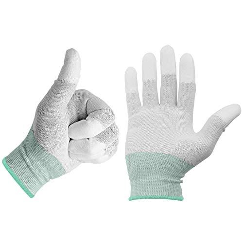 Beschichtete Arbeits-handschuhe (2 x Minadax ESD Antistatik Carbon Handschuh für elektronische Arbeiten in Größe M - ideal geeignet für Reiningung und Reparatur)