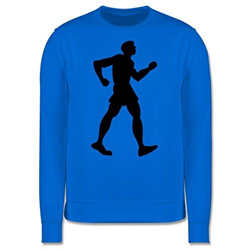 Laufsport - Walken - Herren Premium Pullover Himmelblau