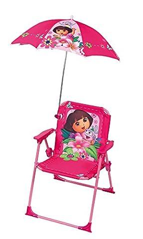 Fun House 712204 Dora Chaise Pliante avec Parasol pour Enfant