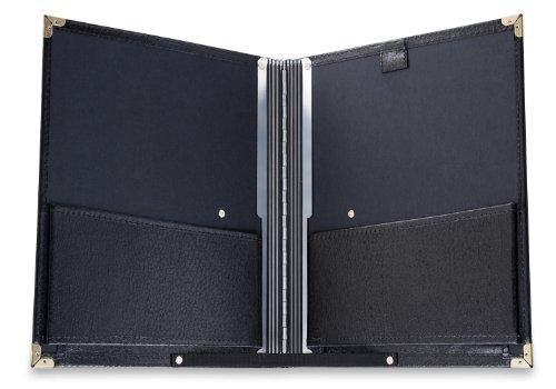 Classic Cantabile Notenmappe Standard Schwarz (stabiles Kunstleder, Handschlaufe, Noten bis DIN A4, Innentasche, Schutzecken)