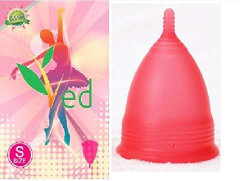 Organic Ved Menstruation Cup (klein) - Rot - Tampon und Pad Alternative - Damenhygiene Schutz