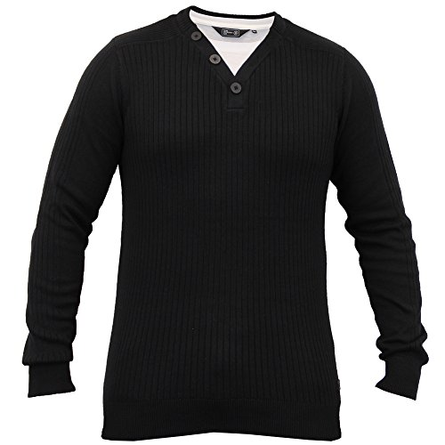Hommes Pull Tricot Côtelé Pull Hiver Pull By Dissident Noir - 1A8025