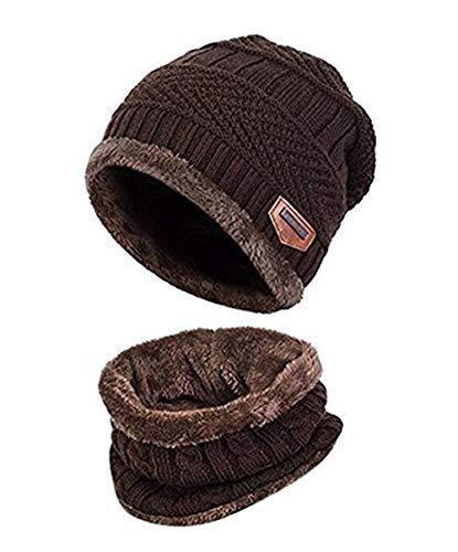 Watooma Kinder Winter Dicke Beanie Hut Schal Set -