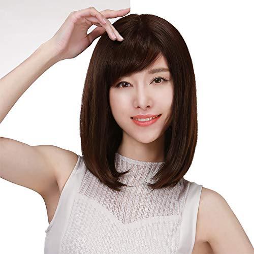 Virgin Human Bob Haar Voll Spitze vorne Bobo Perücken Kurz Gerade Haarstücke Natürlich Haaransatz Perücke 100% Hand gebunden Frauen Mensch Echtes ()