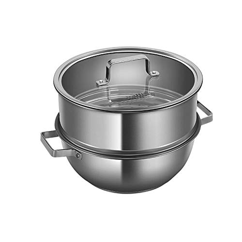 TONGBOSHI Vaporizador De dos capas 24 cm, Vaporizador pequeño de sopa de acero inoxidable 304 de espesor...