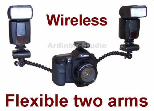 Pro Macro, Portrait Twin Flash Kit with Flexible Arms for Olympus PEN E-PL1, E-P2, E-P1, Evolt E620, E520, E420, E30, E-3, E410, E510, E500, E600, E330, E300 Evolt-E1