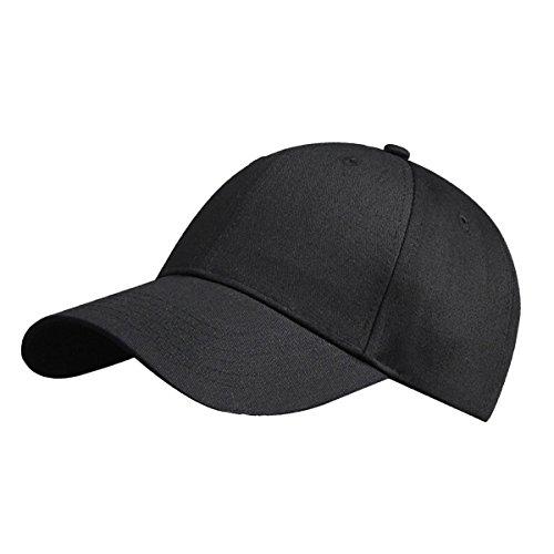 81bd6ac1355a LvLoFit 100% Cotton Baseball Cap Solid Color Sports Peaked Cap Hats Size  Adjustable for Men
