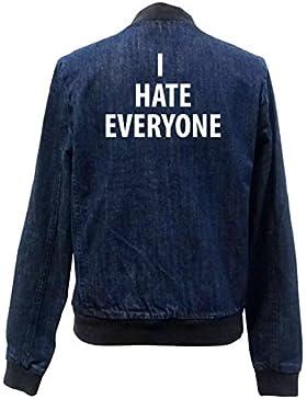 I Hate Everyone Bomber Chaqueta Girls Jeans Certified Freak