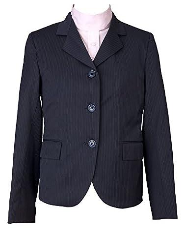 Devon-Aire Kids Nouvelle Stretch Show Coat, Navy Pin, Size 8
