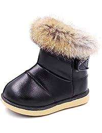 KVbabby Botas de Nieve para Niños Invierno Botines Calentar Botas De Nieve Ante Anti-Deslizante Zapatos Botas de Trabajo