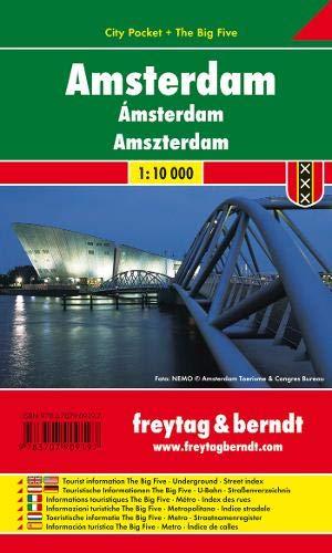Amsterdam, Stadtplan 1:10.000, City Pocket + The Big Five: Stadskaart 1:10 000 (freytag & berndt Stadtpläne) (Amsterdam Stadtplan)