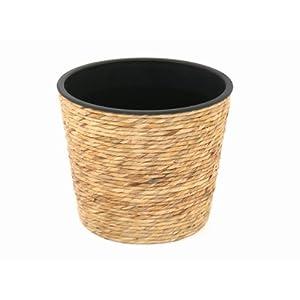 blumentopf gro rattan deine. Black Bedroom Furniture Sets. Home Design Ideas