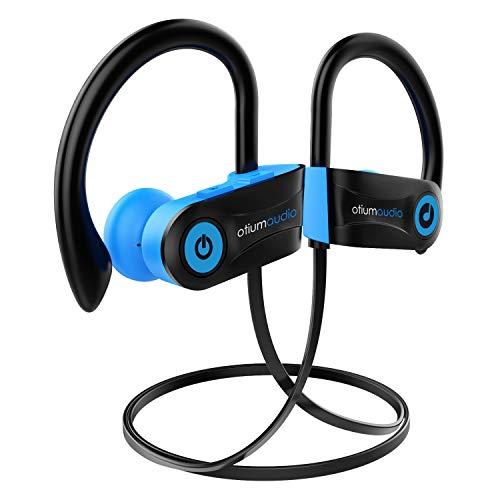 Bluetooth Kopfhörer Sport, Otium IPX7 Wasserdicht Sportkopfhörer Reichen Bass/Bluetooth 4.1 Sport Kopfhörer Joggen/Laufen/Fitness, In Ear Kopfhörer mit Mikrofon für iPhone Android(Blau)