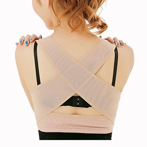 Damen Einstellbare Geradehalter zur Haltungskorrektur Haltungsbandage Geradehalter BH Push Up Stütz
