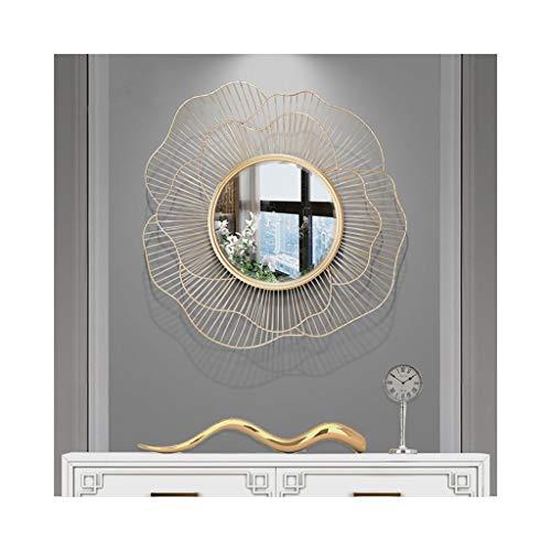 Spiegel Dekorativer Französisch 3D Blütenblatt Sunburst Kosmetikspiegel Mitte Jahrhundert Wandbehang Vintage Art Home Decor (Vintage Sunburst Spiegel)