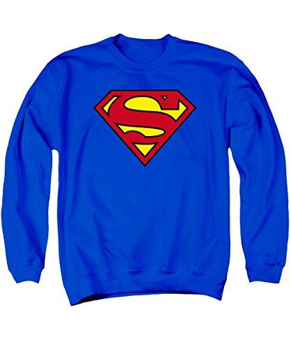 Superman Männer klassischer Logo-Pullover, XX-Large, Royal Blue (Royal Blue Sweatshirt Klassisches)